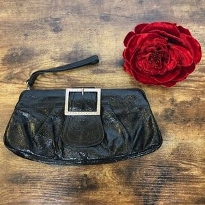 Nordstrom Italy Patent Leather Clutch Purse